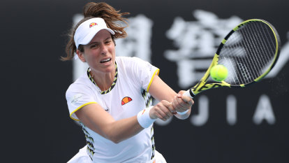Lack of match fitness costs Konta, Tomljanovic storms through first round