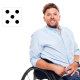 "Dylan Alcott: ""A lot of people with a disability are left out of the dating pool because of that misconception. So we're proud [Alcott and his partner Chantelle] to talk about it and break down those barriers."""