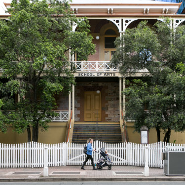 The 1860s-era Brisbane School of Arts building is being restored by Brisbane City Council, overseen by councillor Peter Matic.