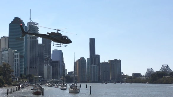 Helicopters set to use Brisbane River as a landing pad