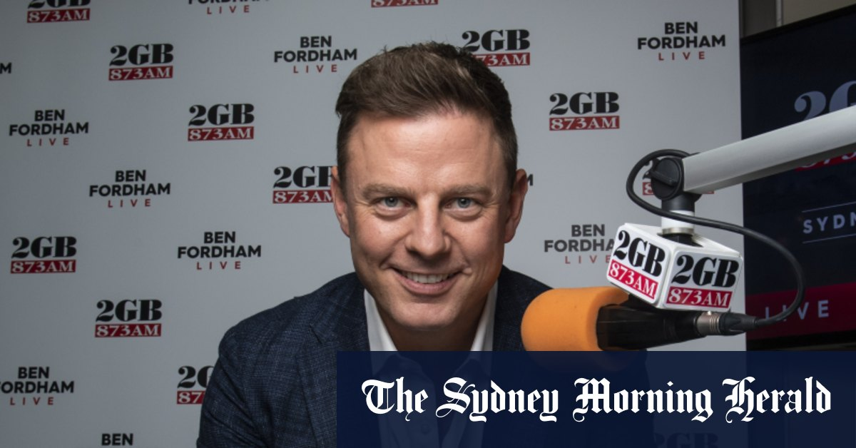 2GB's Ben Fordham dives in radio ratings – The Sydney Morning Herald