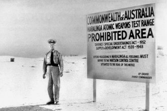British nuclear tests at Maralinga in South Australian were agreed to by Robert Menzies' government.