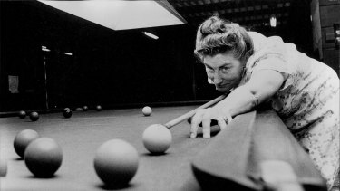 Top seed Frances Wheelhouse practices at the Trade Union Club on December 3, 1973. Author of many books including 'Digging Stick to Rotary Hoe', she lectured widely in Agriculture and Museum Techniques and was a specialist consultant to many museums across Australia.