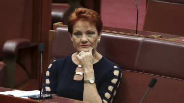 Pauline Hanson has refused to condemn her former colleague Senator Fraser Anning for his Christchurch comments.