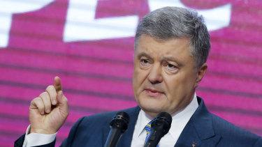 Defeated: Ukrainian President Petro Poroshenko.