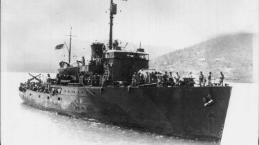HMAS Armidale, which was sunk by Japanese bombers off the coast of Timor on December 1, 1942.