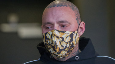 Toby Mitchell pictured in October leaving police headquarters.
