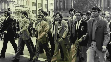 Veterans of the Vietnam War march in Sydney's Anzac day parade in 1973.