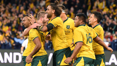 The Wallabies ran all over the All Blacks in Perth.