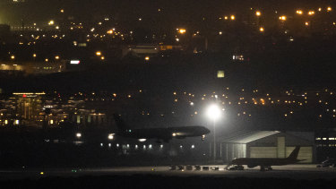 An Air Canada flight does an emergency landing at Adolfo Suarez Madrid-Barajas Airport in Madrid, Spain.