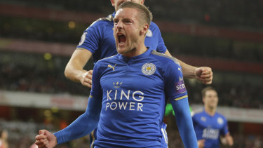 Constant threat: Jamie Vardy is the only key player remaining from Leicester's fairytale Premier League win in 2015-16.