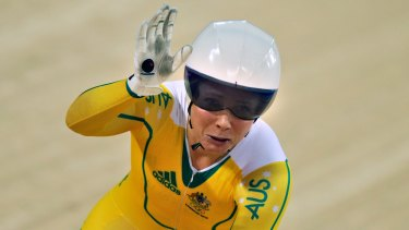 Anna Meares at the London 2012 Olympic Games.
