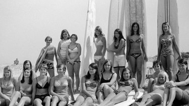 A new exhibition about surfing features historic photos such as Bob Weeks' 1966 image of surfers at Wanda.