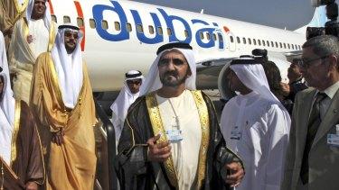 Sheikh Mohammed bin Rashid al-Maktoum, Vice-President and Prime Minister of the United Arab Emirates, at the Dubai Airshow in 2009.