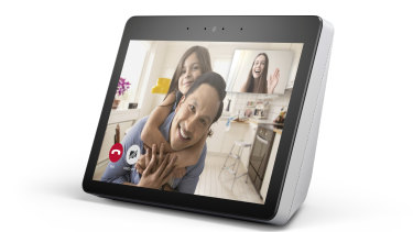 Amazon's Echo Show is bigger than Google's Home Hub, and features a camera for video calls.