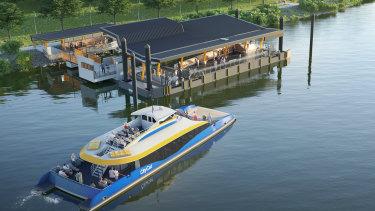 SuperCat, Brisbane's 22nd CityCat, will be the city's first high-speed double-decker catamaran.