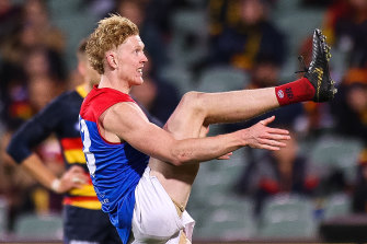 Oliver kicked as much as he handballed against the Crows.