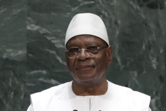 Mali President Ibrahim Boubacar Keita, pictured last year, has resigned after being detained by soldiers.
