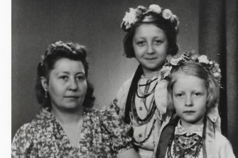 John Hughes' grandmother with his aunt and mother (front).