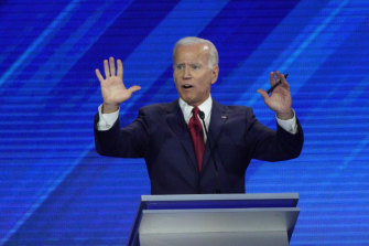 Democratic presidential candidate Joe Biden has lashed out at Trump.