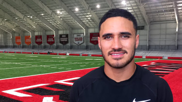 Valentine Holmes is ahead of where running backs coach Jim Bob Cooter thought he would be.