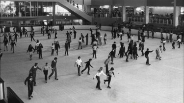 This photo shows how popular the rink was in 1983.