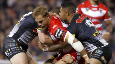 Ratings winner: The round 12 match between the Dragons and Penrith.