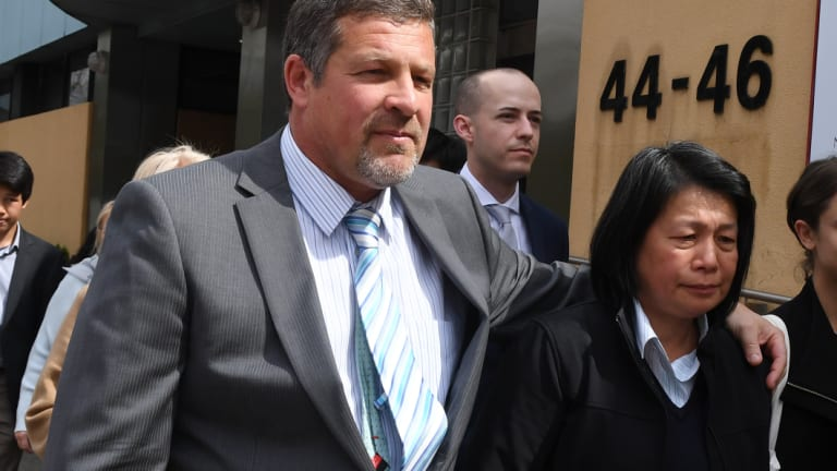 Melissa Standen's parents Bruce Standen and Tin Ho outside the Coroners Court in Glebe on Tuesday.