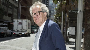 Geoffrey Rush leaves the Federal Court on Tuesday.
