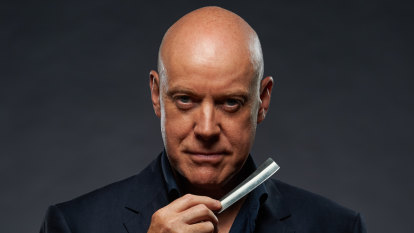 With a straight razor in one hand Anthony Warlow shows his grisly side