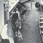 The scene of a Sydney bank robbery in 1987 – part of an era that had a growing number of bank branches, but little CCTV coverage.