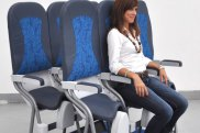 epa02337563 Handout picture released on 15 September 2010 by Aviointeriors, an Italian company specialised in furnishing interiors for airplanes, shows its vertical seats called 'SkyRider'- allowing passengers to stand during the flight. The SkyRiders seats were hatched from an idea suggested by RyanAir CEO Michael O'Leary.  EPA/-  EDITORIAL USE ONLY/NO SALES SkyRider 3.0 design standing plane seat from Aviointeriors.