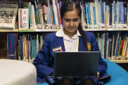 A student plans her pathway to the HSC.