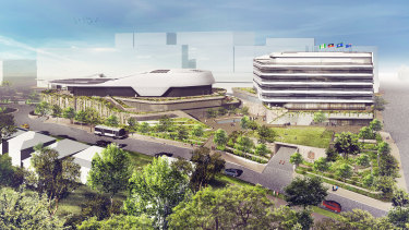 An artist's impression of The New Heart of Ryde development.