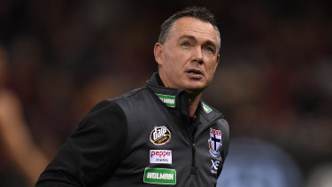 Forward looking: St Kilda coach Alan Richardson also anticipates an AFL backflip on the use of runners.