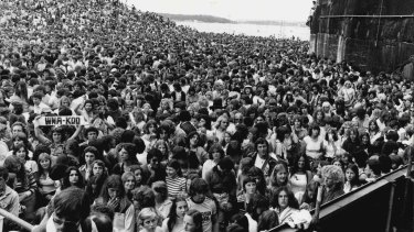 In 1978 Thin Lizzy played to 60,000 screaming fans on the Sydney opera House forecourt.