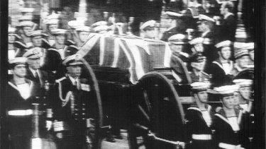 Lord Mountbatten's funeral, 1979.