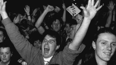 Revellers celebrate in Circular Quay, September 24, 1993.