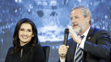 Jerry Falwell Jr and his wife, Becki. Giancarlo Granda claims he had a sexual relationship with Mrs Falwell, which also involved her husband.