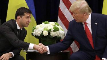 Trump met with Ukrainian President Volodymyr Zelensky in September.