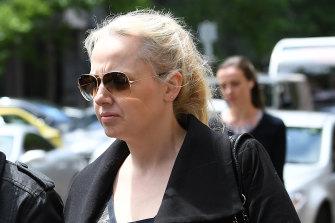 Zita Sukys outside court on Monday.