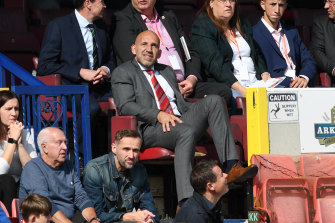 Clem Morfuni takes in a game at the County Ground in Swindon.