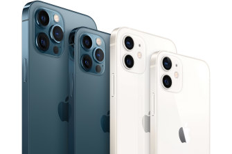 The full iPhone 12 lineup, including the 12 Pro Max, 12 Pro, 12 and 12 Mini.