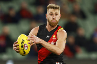 Dyson Heppell will miss Essendon's clash with the Crows.