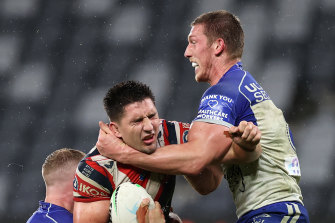 Jack Hetherington avoided the bin and being charged for this tackle.