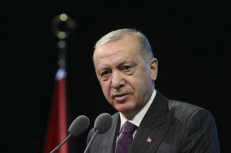 Turkey's President Recep Tayyip Erdogan on Tuesday.