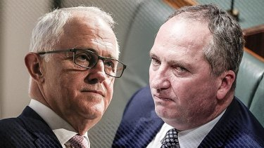 Malcolm Turnbull and Barnaby Joyce have gone head to head in a war of words.