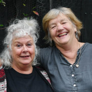 Melbourne theatre director Susie Dee, (left), and playwright Patricia Cornelius.