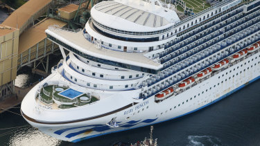 The Ruby Princess cruise ship departs Port Kembla on April 22.