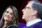 Big donation: Melinda and Bill Gates.